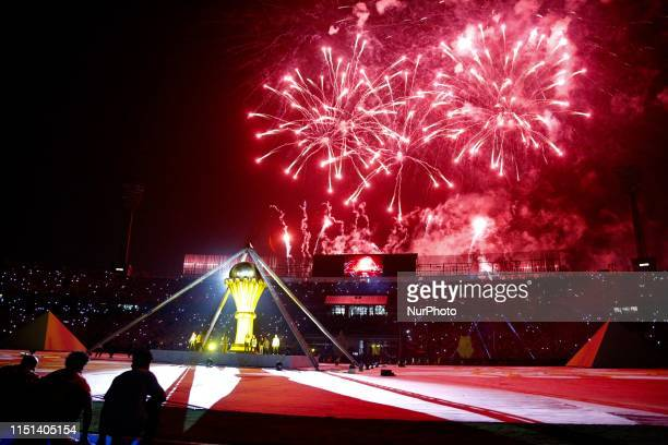 The opening ceremony of the 2019 Africa Cup of Nations and ahead of the football match between Egypt and Zimbabwe at Cairo International Stadium on...