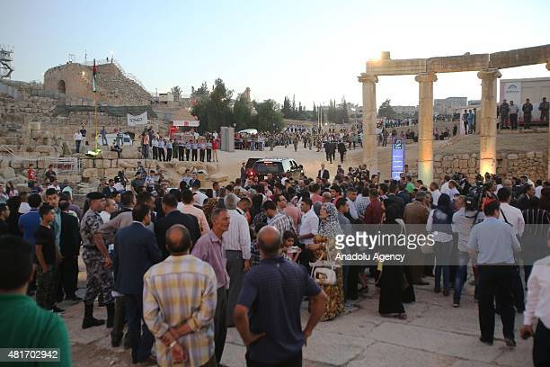The opening ceremony of the 30th Jerash Festival of Culture and Arts is held in the ancient Roman city of Jerash 50 kilometres north of Amman on July...