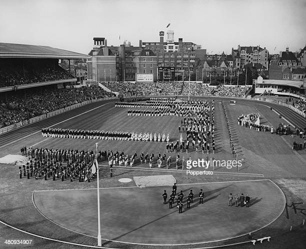 The opening ceremony of the 6th British Empire and Commonwealth Games at Cardiff Arms Park, Cardiff, Wales, 18th July 1958.