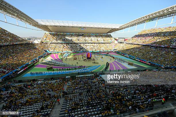 The opening ceremony of the FIFA 2014 World Cup in theArena Corinthians Estadio Itaquerao stadium Arena de Sao Paulo stadium host venue of the FIFA...