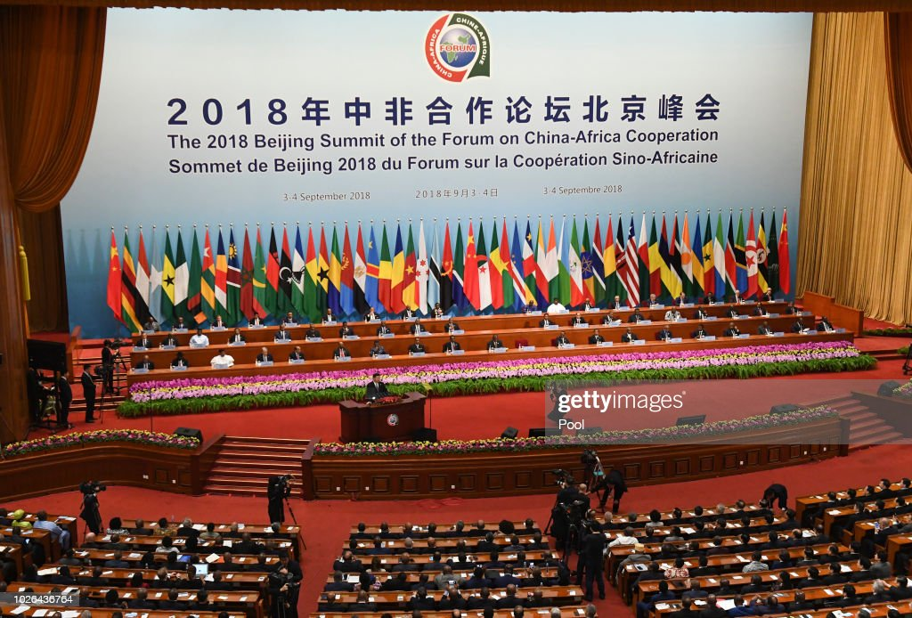 The opening ceremony of the Forum on China-Africa Cooperation at the Great Hall of the People on September 3, 2018 in Beijing, China.