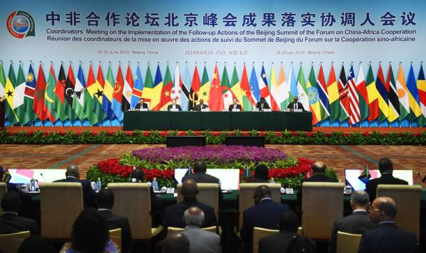 The opening ceremony of the Forum on ChinaAfrica Cooperation is held in Beijing on June 25 2019 ==Kyodo