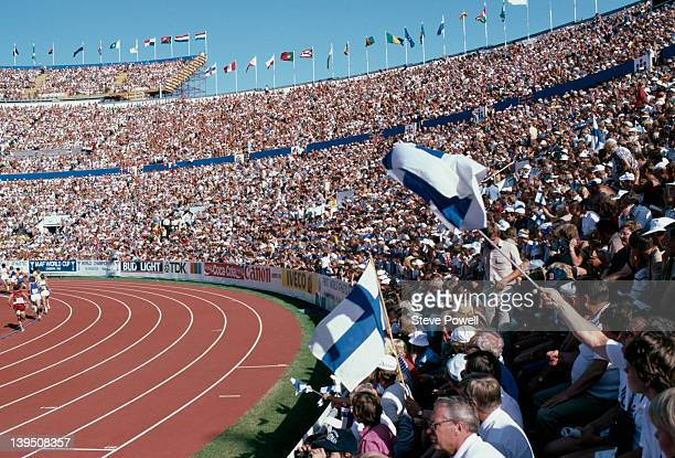 The opening ceremony of the IAAF World Championships in Athletics in Helsinki, 1983.