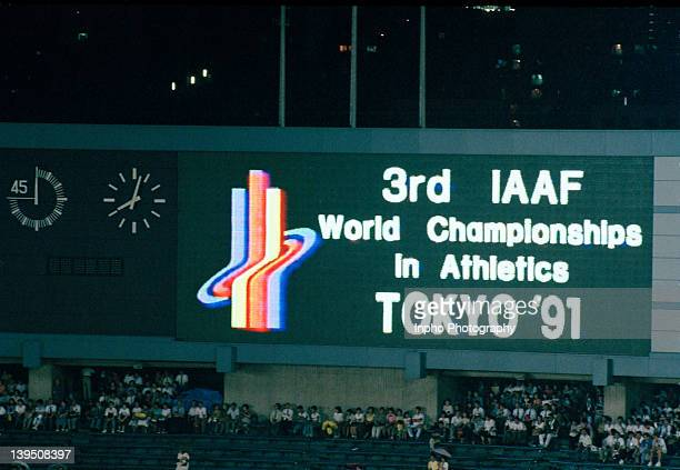 The opening ceremony of the IAAF World Championships in Athletics, Tokyo, 1991.