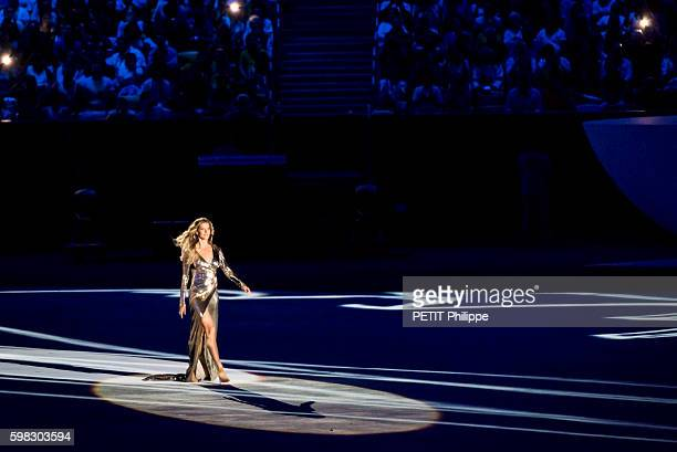 The opening ceremony of the Rio Olympic Summer Games at the Maracana Stadium th former model Gisele Bundchen is photographed for Paris Match on...