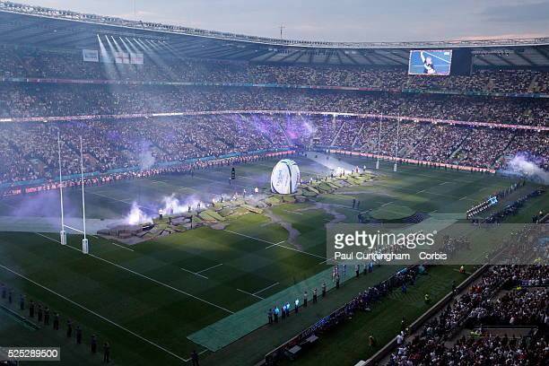 The opening ceremony of the RWC 2015 at Twickenham Stadium followed by the opening game England vs Fiji London England 18 September 2015 Image by ��...