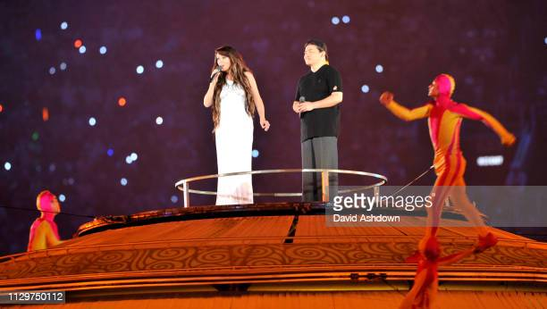 The opening Ceremony of the Summer Olympic Games in Beijing China.