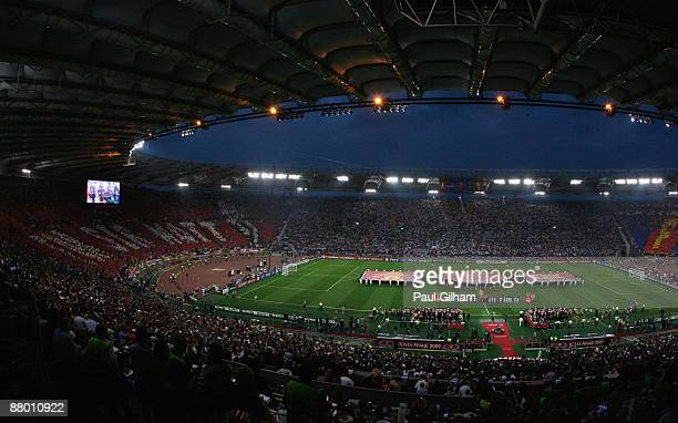 The opening ceremony of the UEFA Champions League Final match between Manchester United and Barcelona at the Stadio Olimpico on May 27 2009 in Rome...