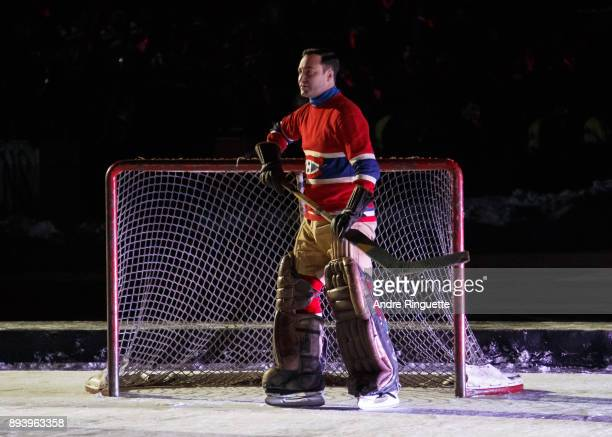 The opening ceremony prior to the 2017 Scotiabank NHL100 Classic between the Ottawa Senators and Montreal Canadiens at Lansdowne Park on December 16...