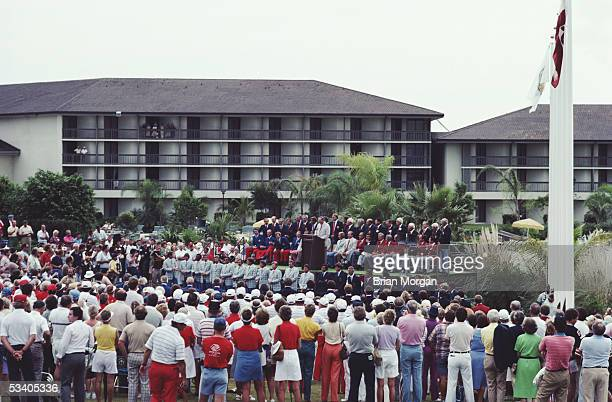 The Opening Ceremony prior to the Ryder Cup at The PGA National Golf Club on 14th October 1983 at Palm Beach Gardens Florida USA