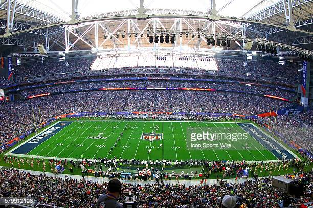 The opening kickoff to Super Bowl XLIX The New England Patriots defeat the Seattle Seahawks 2824 in Super Bowl XLIX at University of Phoenix Stadium...