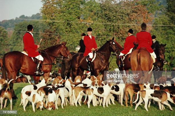 The opening meeting of the Millbrook Hunt in New York State 2nd October 1992