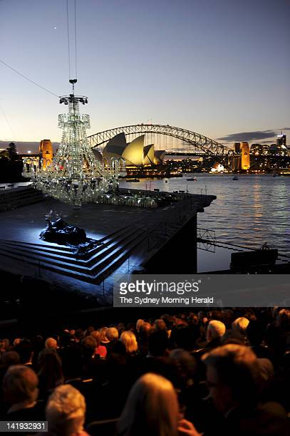 The opening night of Opera Australia's outdoor production of la Traviata at Mrs Macquarie's Chair on Sydney Harbour