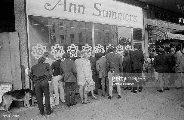 The opening of an Ann Summers sex shop in the Edgware Road London 9th September 1970