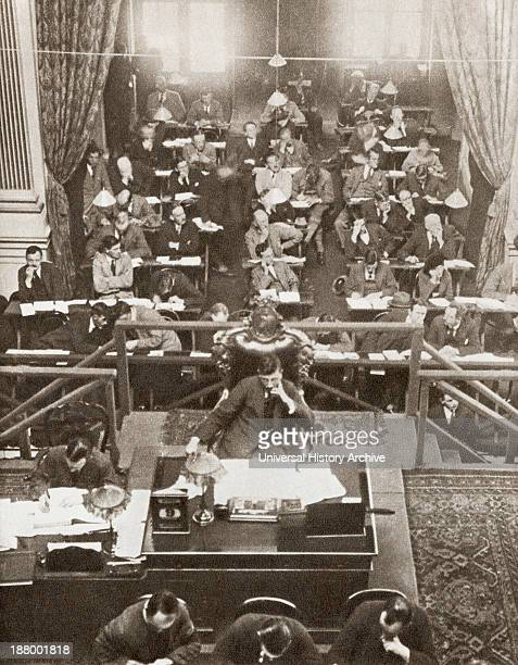 The Opening Of Dail Eireann Or Chamber Of Deputies Of The Irish Free State Parliament Dublin Ireland On September 9 1922 From The Story Of 25...