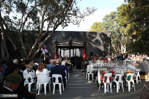 The opening of Te Rau Aroha on February 05 2020 in Waitangi New Zealand The $146 million Maori Battalion Museum aims to raise awareness of Maori...