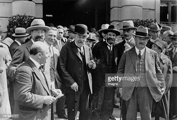 The opening of the 9th cónference of the League of Nations in Geneva In the middle The French foreign minister Aristide Briand June 1926 Photograph...