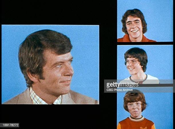 The opening of THE BRADY BUNCH episode Hawaii Bound Pictured clockwise from left Robert Reed as Mike Brady Barry Williams as Greg Brady Christopher...