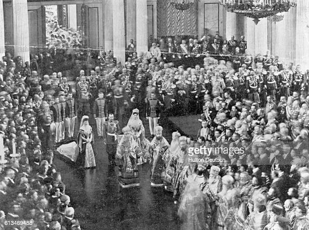 The opening of the Duma the Russian national parliament before the revolution by Czar Nicholas II