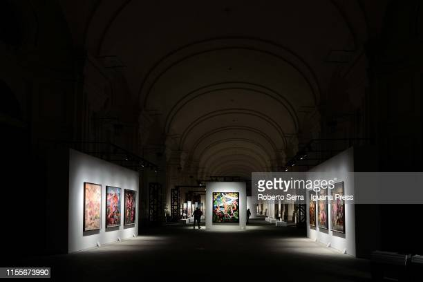 "The opening of the exhibition by David Lachapelle ""Atti Divini"" at Reggia di Venaria Reale on June 13, 2019 in Turin, Italy."