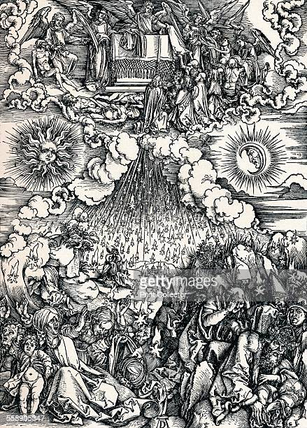 'The Opening of the Fifth and Sixth Seals' 1498 Scene from the Apocalypse From Durer Des Meisters Gemalde Kupferstiche und Holzschnitte in 471...