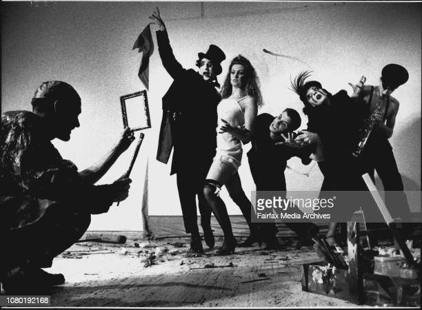 A the opening of the 'Germain Expressionism the colours of desire ' exhibitionThe theatre of image group doing a performance /eventTo open the...
