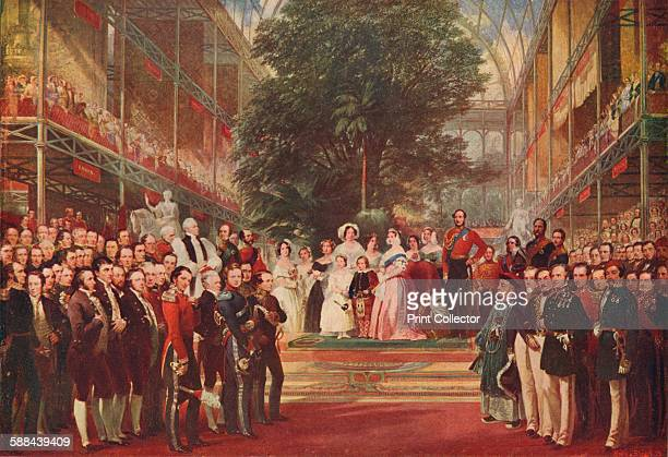 The opening of the Great Exhibition by Queen Victoria on 1 May 1851 From Cassell's History of England Vol VI Artist Henry Courtney Selous
