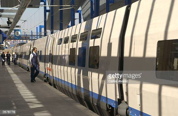 The opening of the new high speed train line Alta Velocidad Espanol between Madrid and Lerida October 10 2003 in Madrid Spain