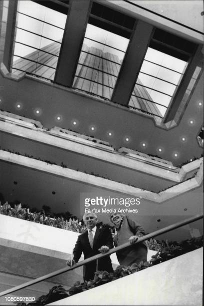 The opening of the State Bank in Martin PlaceMr Nicholas Whitlam and his mother Margaret Whitlam in the Bank September 23 1985
