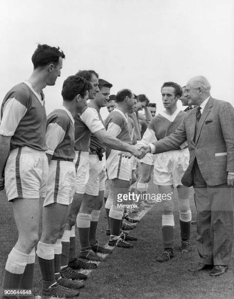 The opening of Woodford Park sports ground Woodley by Lord Luke Chairman of the National Playing Fields Association Our Picture Shows Lord Luke being...