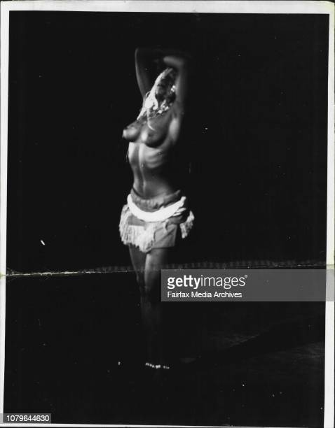The Opening performance of Les Ballets Africains at the Theatre Royal last nightScenes of several acts by the company The company performed before a...