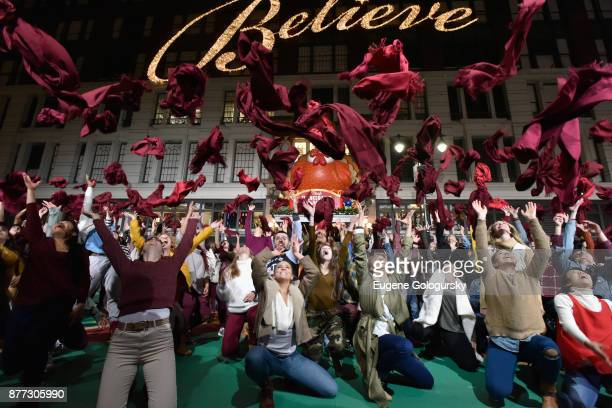 The opening sequence is rehearsed at Macy's Thanksgiving Day Parade Talent Rehearsals at Macy's Herald Square on November 21 2017 in New York City