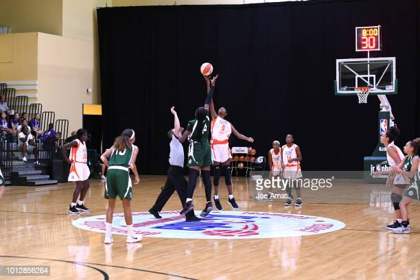 The opening tipoff between Midwest Girls and South Girls during the Jr NBA World Championship on August 7 2018 at the ESPN Wide World of Sports...