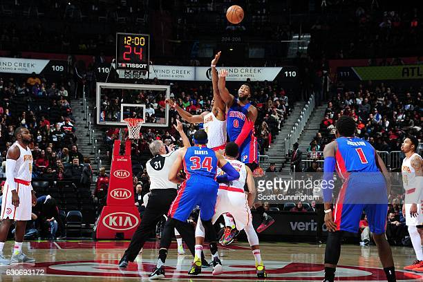 The opening tipoff between the Detroit Pistons and Atlanta Hawks on December 30 2016 at Philips Arena in Atlanta Georgia NOTE TO USER User expressly...
