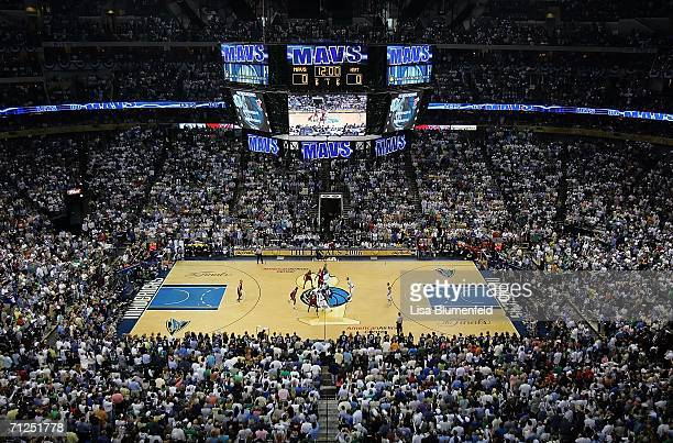 The opening tip-off of game six of the 2006 NBA Finals between the Dallas Mavericks and the Miami Heat on June 20, 2006 at American Airlines Center...