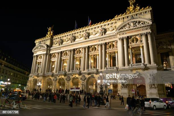 The Opera de Paris by night on October 20 2015 in Paris France