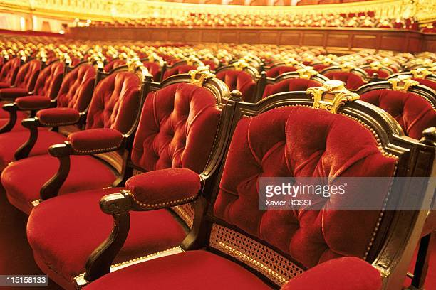 The Opera Garnier in Paris France in November 1998 Armchairs of the main room