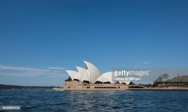The Opera House gleams white in the afternoon sunshine on April 9 2018 in Sydney Australia Sydney has been experiencing unseasonably high...