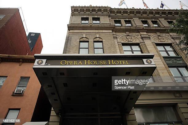 The Opera House Hotel is viewed in an area of the Bronx which is the center of the outbreak Legionnaires disease on August 6 2015 in New York City It...