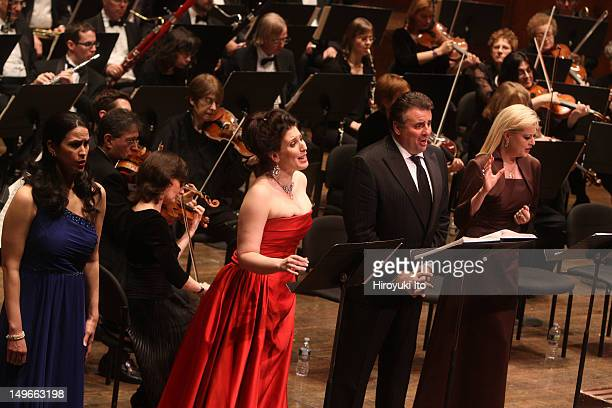 The Opera Orchestra of New York performing Giacomo Meyerbeer's L'Africaine at Avery Fisher Hall on Wednesday night March 2 2011This imageFrom left...