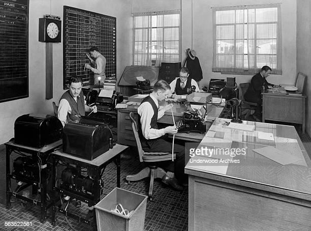 The operations office of TATMaddux Air Lines at Burbank Airport Burbank California 1929