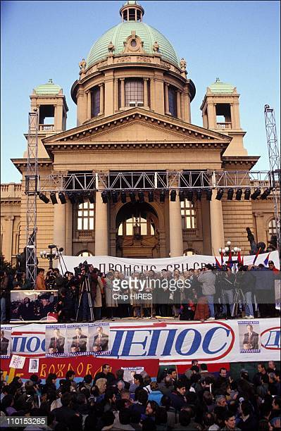 The opposition in Belgrade in Belgrade Montenegro on December 16 1992