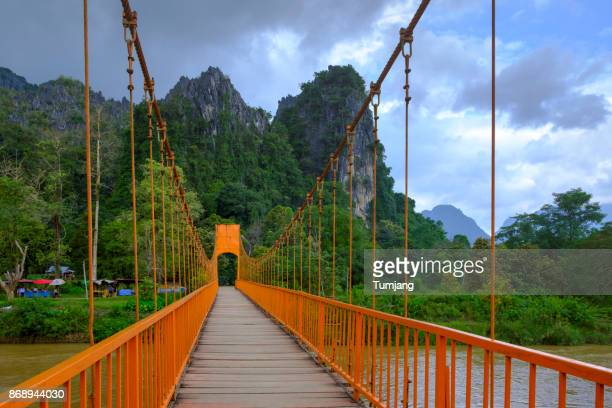 The Orance Suspension bridge to Tham Jang Cave