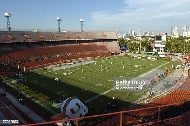 The Orange Bowl as the University of Miami Hurricanes host the Texas AM Aggies on September 20 2007 in Miami Florida Miami won 3117