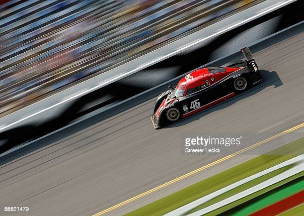 The Orbit Racing BMW/Riley driven by Ryan Dalziel and Bill Lester races during the Rolex GrandAm Sports Car Series Brumos Porsche 250 at Daytona...