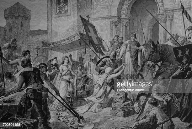 The ordeal, fire test, of Saint Cunigunde of Luxembourg, also called Cunegundes, Cunegunda, and Cunegonda and, in Latin, Cunegundis or Kinigundis,...