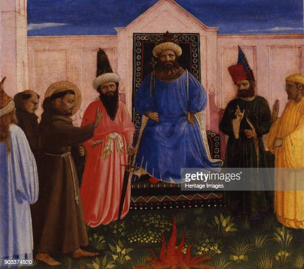 The ordeal of fire of Saint Francis before the Sultan Found in the Collection of LindenauMuseum Altenburg