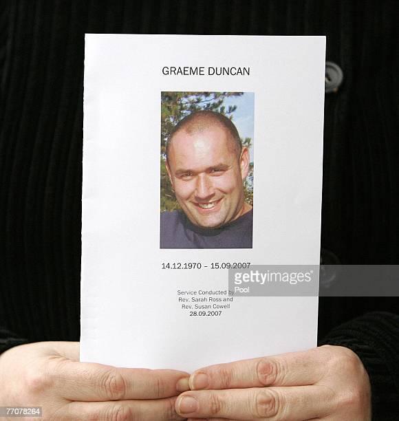 The order of service at the funeral of former quad bike champion Graeme Duncan on September 28 2007 in Edinburgh Scotland Graeme Duncan died in the...