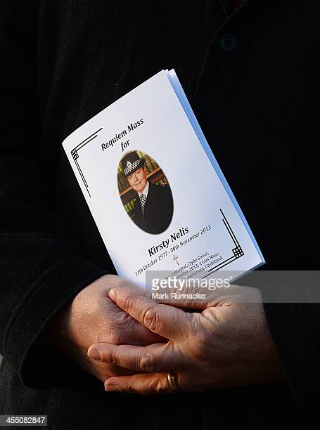 The Order of Service at the funeral service at St Andrews Cathedral for PC Kirsty Nelis who was killed in the Clutha Bar Helicopter Crash on December...