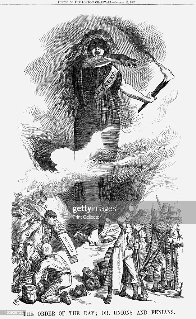 the order of the day or unions and fenians 1867 this cartoon